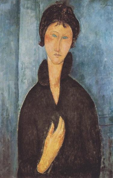 Amedeo Modigliani, 'Femme aux yeux bleus', 1918